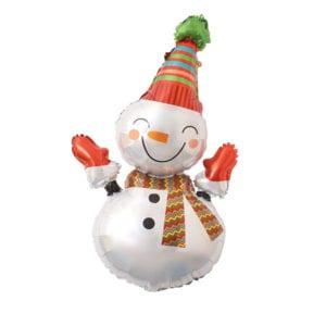 Smiling Snowman Foil Balloon