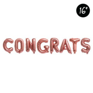 16 inch CONGRATS Rose Gold Foil Letter Balloon