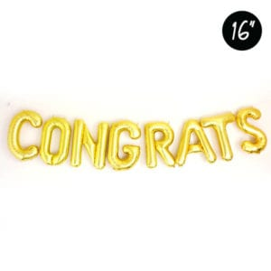 16 inch Party gold foil balloon congrats