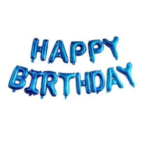 16 inch happy birthday blue foil balloon