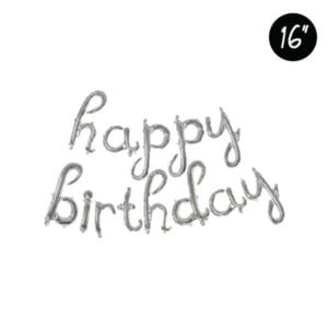 16 inch happy birthday cursive letter foil balloon