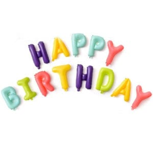 16 inch happy birthday macaron foil balloon