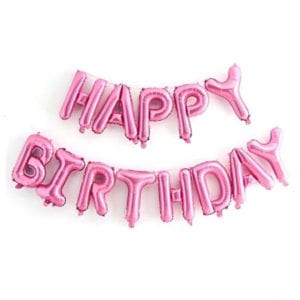 16 inch happy birthday pink foil balloon