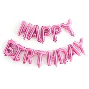 16 inch happy birthday pink foil balloon