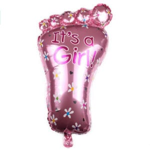 Its a girl little foot foil balloon