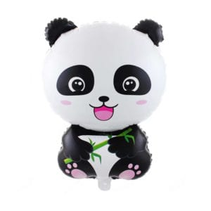 Smiling Panda Bear Leaf Balloon