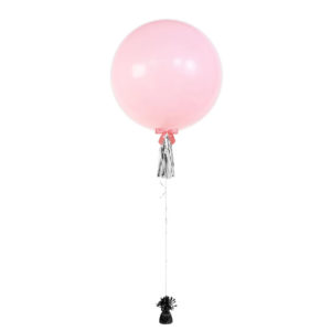 36 inch plain colour balloon Pink with tassel