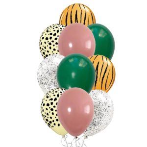 Cheetah Tiger balloon bouquet