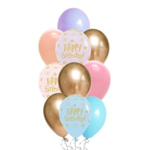 HBD Candy Pastel Matte balloon bouquet