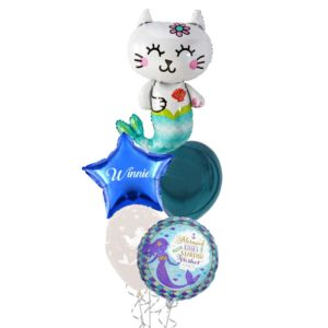 Mermaid Cat balloon bouquet