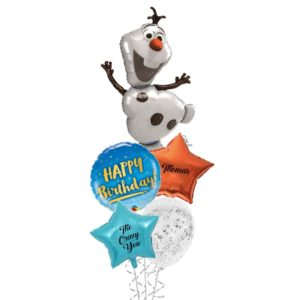 Olaf birthday balloon bouquet