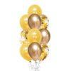 Round Confetti Chrome Gold balloon bouquet