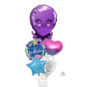 Smiley Octopus balloon bouquet