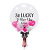 Valentines Customize Balloon Pink Hearts