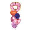 Valentines Donuts Balloon Bouquet