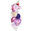 Valentines Unicorn Love you balloon bouquet