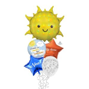 Welcome sunshine balloon bouquet