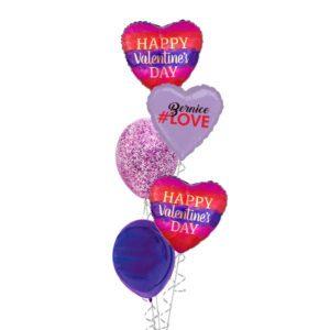 Valentines Watercolour Love balloon bouquet