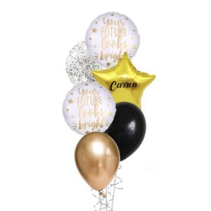 graduation your future looks bright balloon bouquet