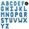 16 INCH black alphabets FOIL BALLOON BLUE