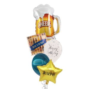 Cheers Beers Birthday Balloon Bouqet
