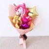 Princess Unicorn Birthday Gold Pinks Hand Balloon Bouquet