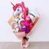 Princess Unicorn Birthday Silver Pink Hand Balloon Bouquet