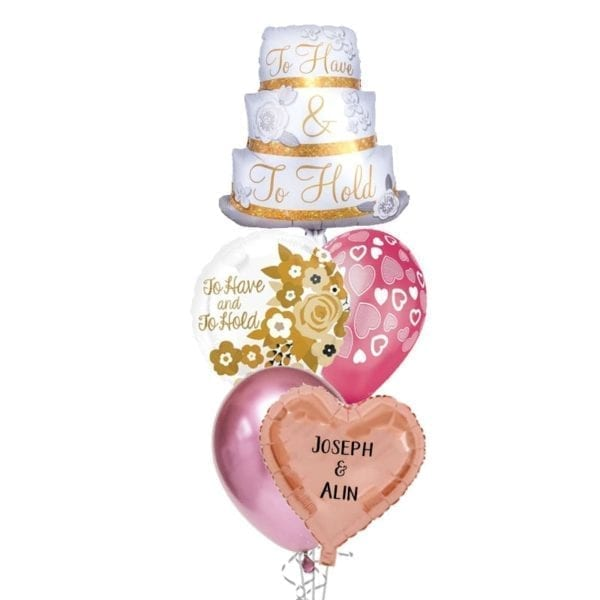 To Have and to Hold Wedding Balloon Bouquet